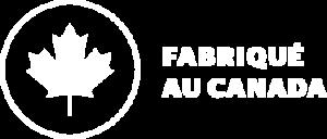 Aquarino fabriqué au Canada logo blanc